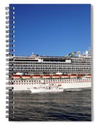 Cruise Ship Is Leaving The Port Spiral Notebook