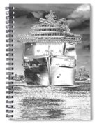 Cruise Ships In Chrome Spiral Notebook