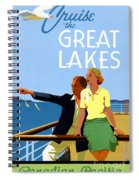 Cruise The Great Lakes Vintage Travel Poster Spiral Notebook