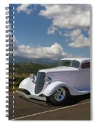 Cruizing Model A Ford Hot Rod Spiral Notebook