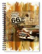 Crusin N Dining On Rt 66 Spiral Notebook