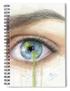 Earth In The Eye Crying Planet Spiral Notebook