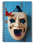 Crying Mask And Red Butterfly Spiral Notebook