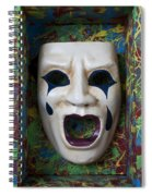 Crying Mask In Box Spiral Notebook
