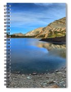 Crypt Lake Gold And Blue Spiral Notebook