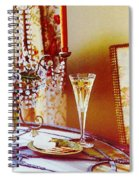 Crystal And Champagne Spiral Notebook