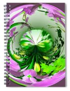 Crystal Ball Flower Garden Spiral Notebook