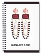 Crystal Earrings For Women Spiral Notebook