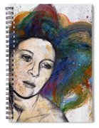 Crystal - Street Art Female Portrait With Rainbow Hair Spiral Notebook