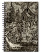 Crystal Mill Marble Colorado Sepia Dsc06944 Spiral Notebook
