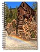 Crystal Mill Rainbow Spiral Notebook