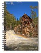 Crystal Mill Rainbow Portrait Spiral Notebook