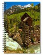 Crystal Mill Summer Landscape Spiral Notebook