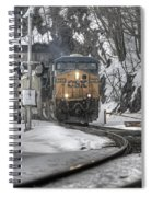 Csx Northbound At Mine Dock Road Highland Falls New York Spiral Notebook