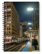 Cta Pulls Into The State-lake Street Station Chicago Illinois Spiral Notebook