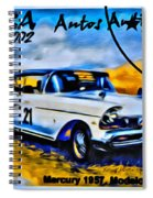 Cuba Antique Auto 1957 Mercury Monterrey Spiral Notebook