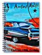 Cuba Antique Auto 1959 Fleetwood Spiral Notebook