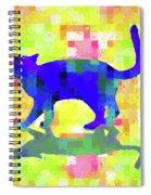 Cubist Cat Spiral Notebook