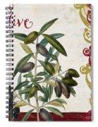 Cucina Italiana Olives Spiral Notebook
