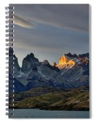 Cuernos Sunset Begins #4 - Patagonia Spiral Notebook