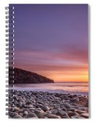Cullernose Point At Sunrise Spiral Notebook