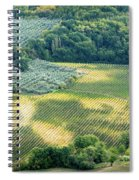 Cultivated Vineyards Tuscany  Italy Spiral Notebook