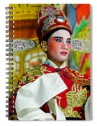 Cultural Opera Actor In Red Spiral Notebook