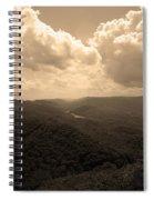 Cumberland Gap - Kentucky Sepia Spiral Notebook