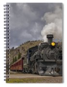 Cumbres And Toltec Railroad Crossing Nm Dsc04057 Spiral Notebook