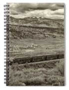 Cumbres Toltec Railroad Nm Sepia Dsc04065 Spiral Notebook