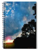 Cumulonimbus Clouds At Sunset Spiral Notebook