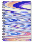 Cumulus Clouds And Blue Sky Abstract Spiral Notebook