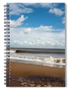 Cumulus Clouds Passing Across The Beach At Skegness Lincolnshire England Spiral Notebook