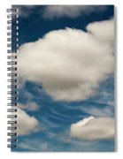 Cumulus Clouds With Nature Patterns Spiral Notebook