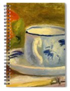 Cup And Oranges Spiral Notebook
