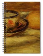 Cup Lemon And Tomato Spiral Notebook