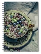 Cup Of Beads Spiral Notebook