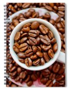 Cup Of Raw Coffee Spiral Notebook
