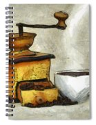 Cup Of The Hot Black Coffee Spiral Notebook