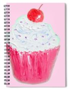 Cupcake Painting On Pink Background Spiral Notebook