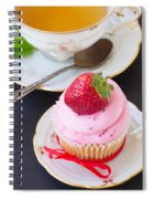 Cupcake With Strawberry Spiral Notebook