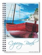 Cupecoy Beach Poster Spiral Notebook