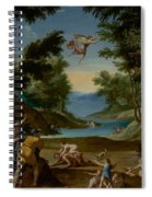 Cupid And Pan Spiral Notebook