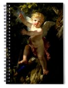 Cupid In A Tree Spiral Notebook