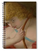 Cupid With Bow Spiral Notebook