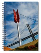 Cupids Bow And Arrow Spiral Notebook