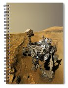 Curiosity Self-portrait At Windjana Drilling Site Spiral Notebook