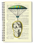 Curled Up Baby With Parachute Spiral Notebook