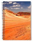 Curling Sandstone Waves Spiral Notebook