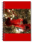 Curly Cardinal Spiral Notebook